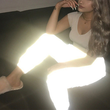 Flash Reflective Jogger Pants 2018 Autumn Winter Women Casual Gray Solid Streetwear Trousers pants