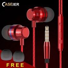 CASEIER X30 In-Ear Earphone For iPhone Noise Canceling HIFI Earphones Samsung Android Phone High Bass Clear Sound