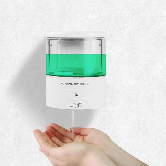 600ml distributeur de savon liquide automatique IR capteur distributeur de savon mur sans contact cuisine savon Lotion pompe pour cuisine salle de bain