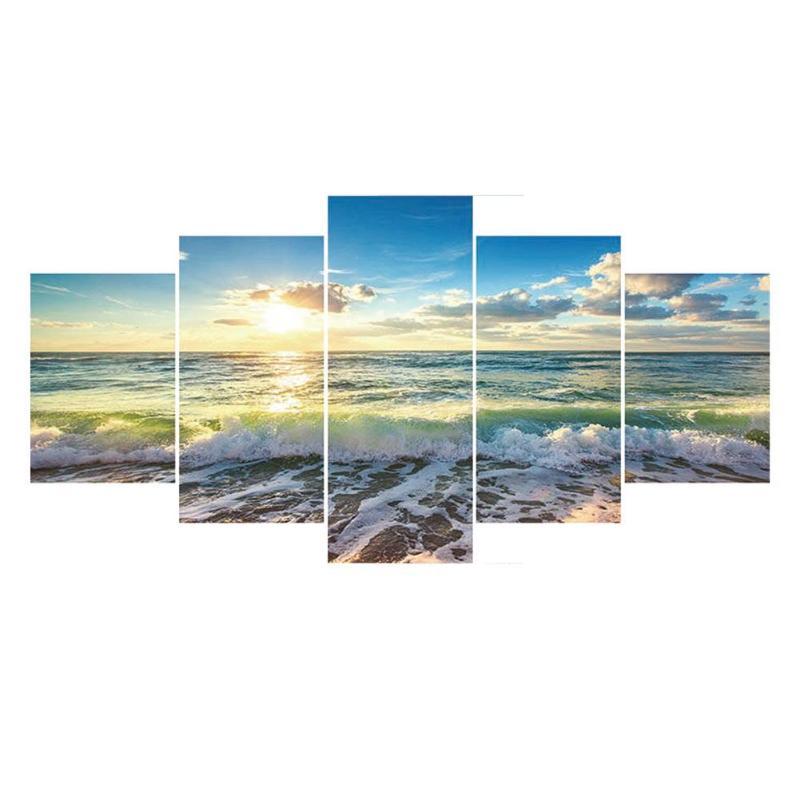 5 pièces 5D bricolage complet forage diamant peinture paysage point de croix broderie combinaison Kit mur Art artisanat couture décor à la maison