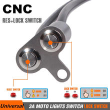 1PC LED  Motorcycle Switch ON-OFF Handlebar Adjustable Mount Waterproof Switches Button DC 12V Headlight