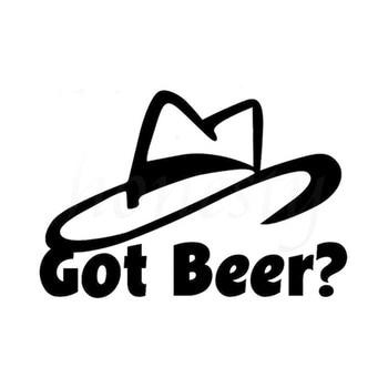 Got Beer? Booze Hat Car Auto Wall Home Glass Window Door Vinyl Decal Sticker Car Accessories Car Sticker Black 16.9cmX11.5cm line art