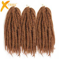 Couleur rose rouge brun moyen 18 pouces tresses au Crochet torsion Afro crépus tressage cheveux Jumbo Marley tresses Extensions de cheveux synthétiques