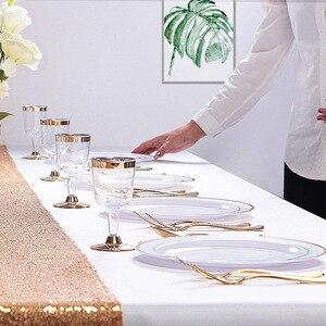 Image 5 - Vàng Dùng Một Lần Ô Món Tráng Miệng/Món Khai Vị đĩa với Viền Vàng Thực Trung Quốc Nhìn cho Đám Cưới, Các Đảng Phái, phục vụ ăn uống, Sinh Nhật