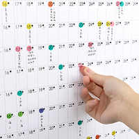 2019 Yearly Agenda Poster Style Calendar Memo Paper With Sticker Dots Study Stationery Office Daily Annual Schedule Wall Planner