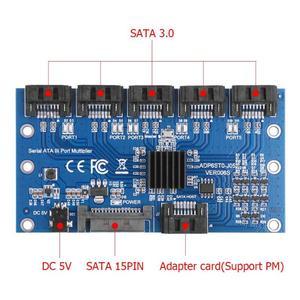 Image 5 - 1 do 5 Port SATA3.0 karta rozszerzeń karta kontrolera płyta główna 6 gb/s mnożnik Port SATA adapter do kart rozszerzających do dysku twardego komputera