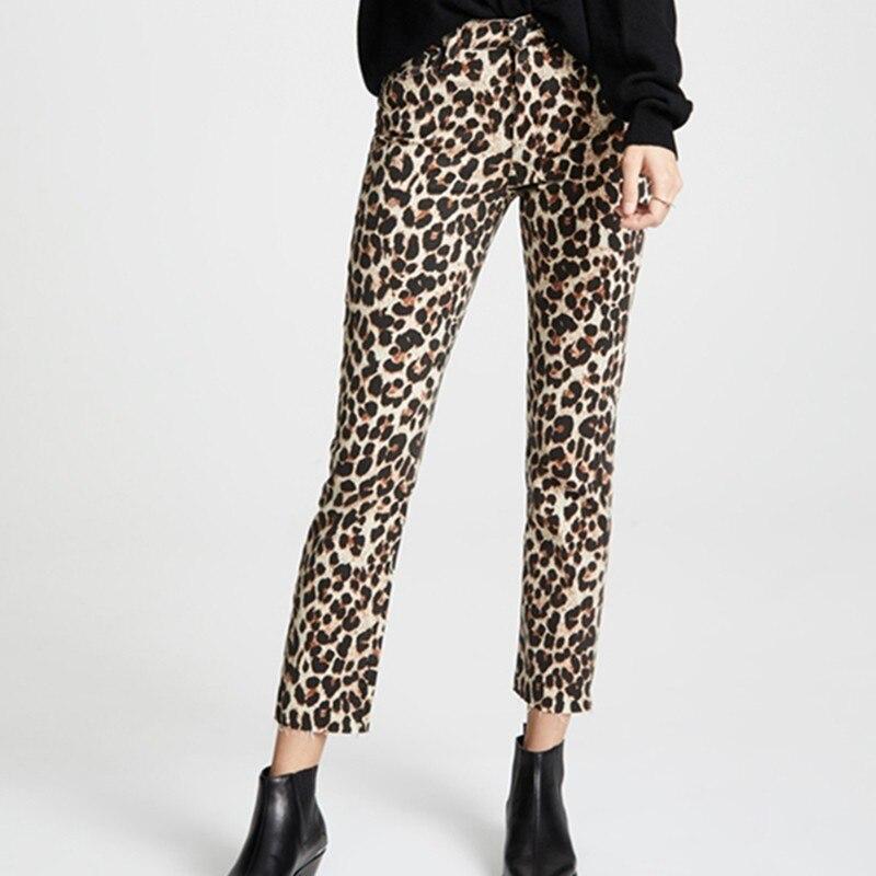Casual Street High Waist Elastic Velvet Leopard   Pants   Women's Slim Soft   Wide     Leg     Pants