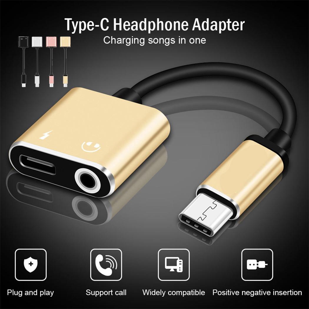 Typ-c Weibliche 3,5 Mm Weibliche Konverter Audio Adapter MöChten Sie Einheimische Chinesische Produkte Kaufen? 2 In 1 Typ-c Zu 3,5mm Jack Kopfhörer Lade Typ-c Männlichen