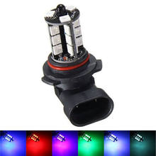 HOME-2x 9050 5050 LED 27 SMD RGB Car Headlight Fog Light Lamp Bulb + Remote Control(China)
