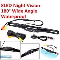 Car License Plate Rear View Backup Reverse General Parking Camera DC 12V 8 IR LED NTSC Casual Night Vision