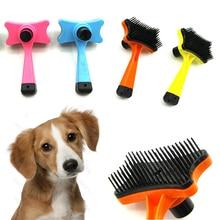 Sale Small dog font b pet b font grooming comb Cat hair brush Teddy bear golden