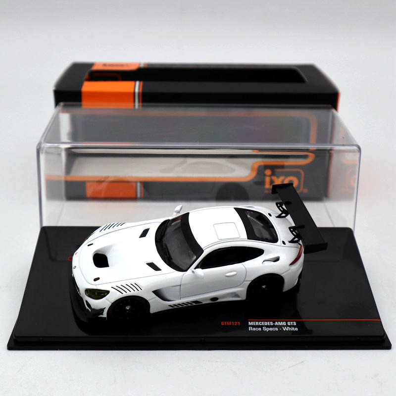 IXO 1 43 Mercedes AMG GT3 Race Specs White GTM121 Diecast Models Limited Edition Collection Toys