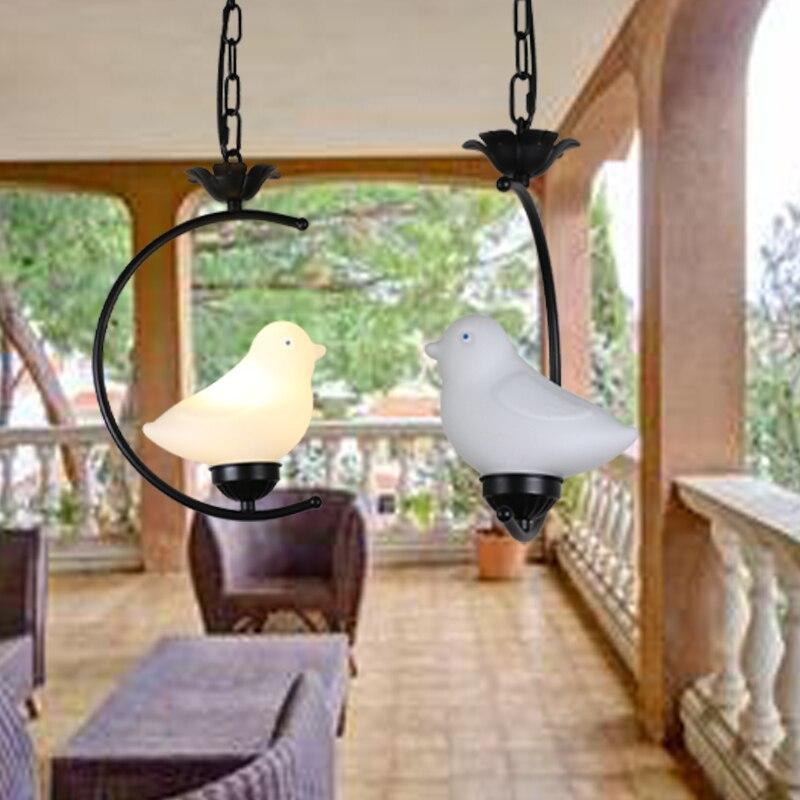 Modern Art Glass Bird Pendant Lights Led Lamps Living Room Led Pendant Lamp E27 Bulb Black White Led Lustre Light Pendant LampsModern Art Glass Bird Pendant Lights Led Lamps Living Room Led Pendant Lamp E27 Bulb Black White Led Lustre Light Pendant Lamps
