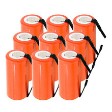 цена на Free Shipping 10PCS 22*42mm Sub C SC Rechargeable Battery 1.2V 2800mAh NI-CD Batteries With PCB For Electronic Tools