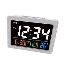 Цифровые светодиодные часы с ЖК-дисплеем, настольные электронные часы с будильником, подарок, многофункциональный календарь, часы с температурой дома