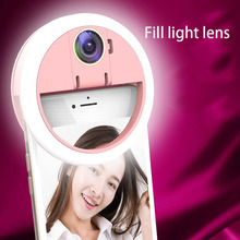 Ring Selfie Light for iphone LED Fill with HD wide-angle len photo mobile phone portable USB charging