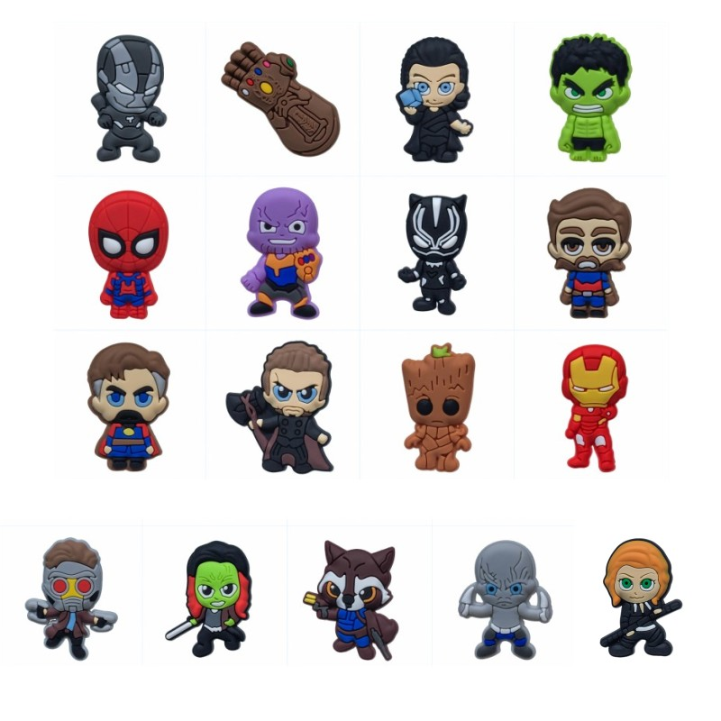17pcs Cartoon Magnetic Stickers Avenger 3 Fridge Magnets For Kids Toys Blackboard Magnets Children Diy Toys Birthday Gifts Good Companions For Children As Well As Adults