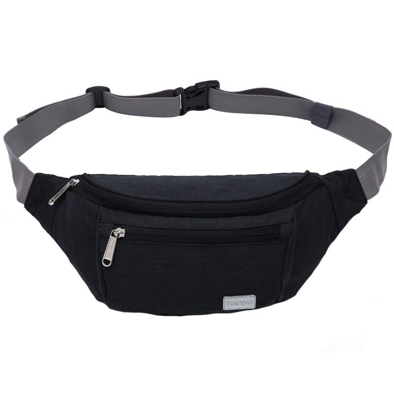ABDB-Tinyat Men Waist Bag Pack Travel Phone Belt Bag Pouch For Men Women Casual Unisex Shoulder Chest Bag Canvas Fanny Pack Hi
