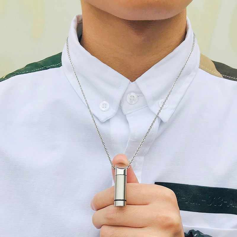 Stainless Steel Cremation Jewelry Ash Urn Necklace Pendant For Men Hip Hop Male Gifts