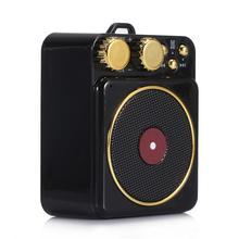 все цены на Portable Retro Bluetooth Speaker Atomic Record Player Mini Wireless Support Bass Card Mobile Audio TF Card FM Radio Cute Gift онлайн