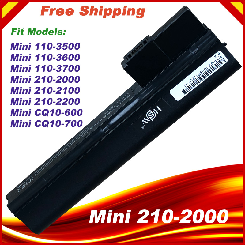 Laptop Battery For HP  Mini 210-2000  Mini 110-3500 110-3600 110-3700 CQ10-600LA HSTNN-LB1Y HSTNN-UB1Y