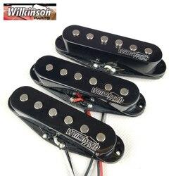 Wilkinson przetworniki do gitary elektrycznej Lic Vintage Voice pojedyncza cewka przetworniki do ST gitara czarny 1 zestaw WOVS