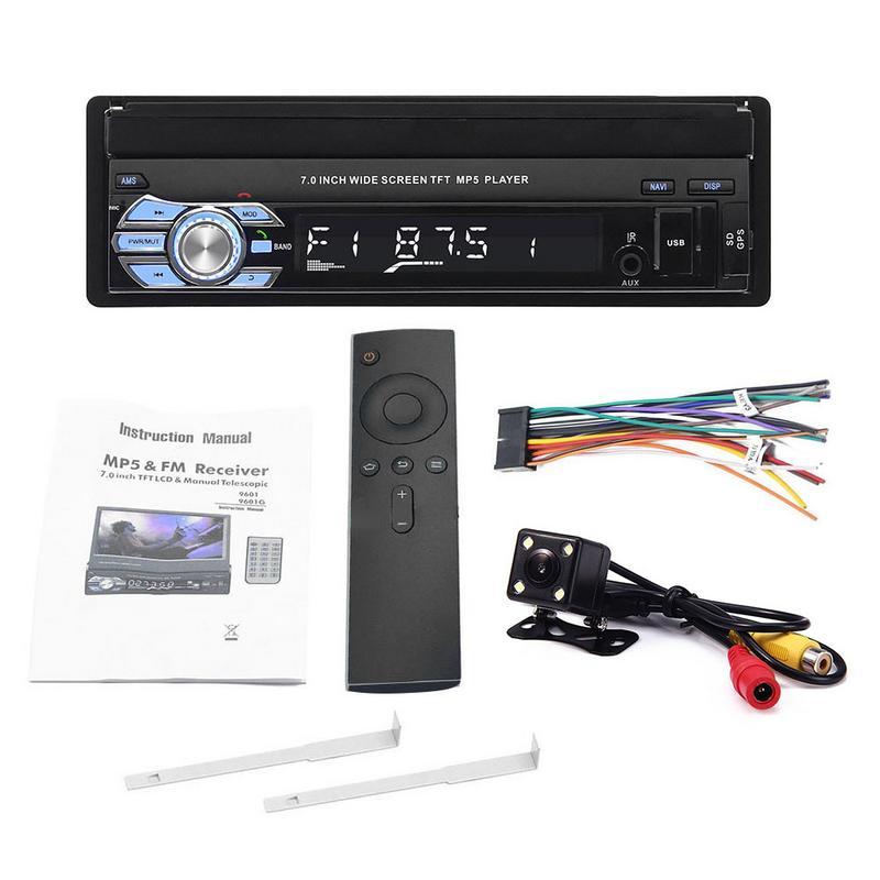 Reproductor MP5 para Auto Est/éreo 7RDS Radio FM FM Navegaci/ón GPS Retr/áctil 1 Pantalla t/áctil DIN USB Bluetooth Receptor 9601 mp5 est/éreo del autom/óvil