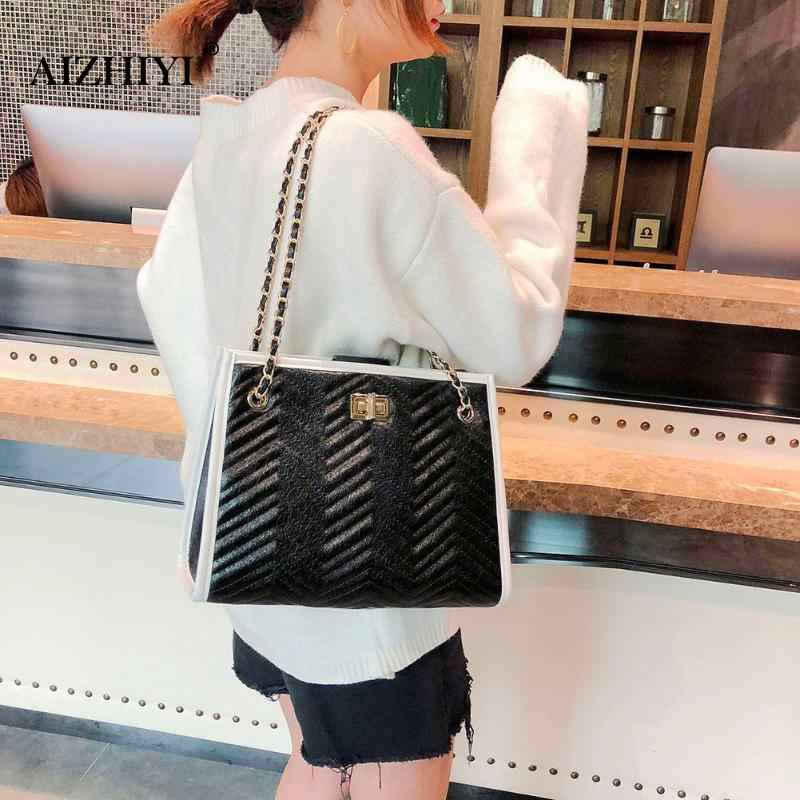 ... 2pcs set Large PU Chain Women Handbags Female High Quality Clutch Shoulder  Bags Fashion Messenger ... 88274119d8e09