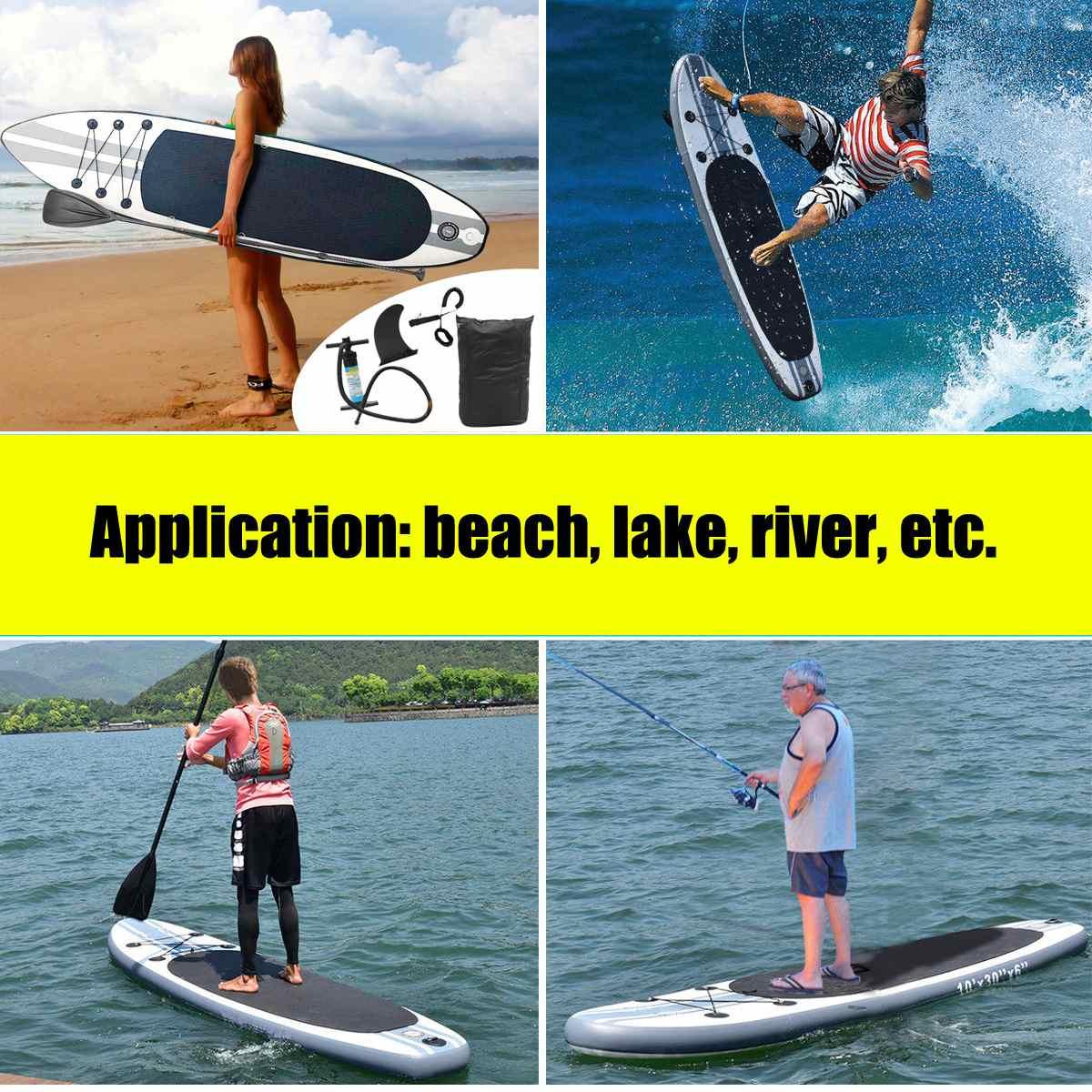 f3edb972d Prancha inflável 320x78x15 centímetros Prancha Stand Up Paddle Surf Board  Esporte Sup Board + Bomba de Água corda de segurança de Ferramentas Kit em  Surf de ...