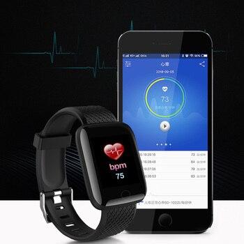 Homens relógio inteligente pressão arterial à prova d 'água mulheres smartwatch monitor de freqüência cardíaca rastreador de fitness relógio esporte para android ios 1