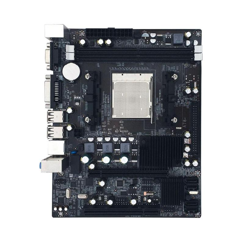 A780 Desktop Computer Motherboard AM2 2xDDR2 PC Mainboard Double Channel Support VGA DVI for AMD AM 2 series 940 pin USB 2.0 IDE-in Motherboards from Computer & Office    1