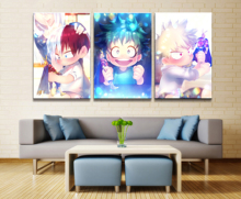 Wall Art Painting Pictures 3 Panel Animation Poster My Hero Academia Modern Home Decor For Living Room Canvas Printed Artwork