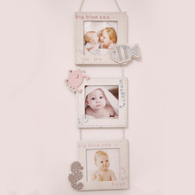 Nordic White Wooden Picture Frames Wall Photo Frame Modern Wood Ornaments Kids Room Decor Cartoon/Heart Shapes Boys & Girls