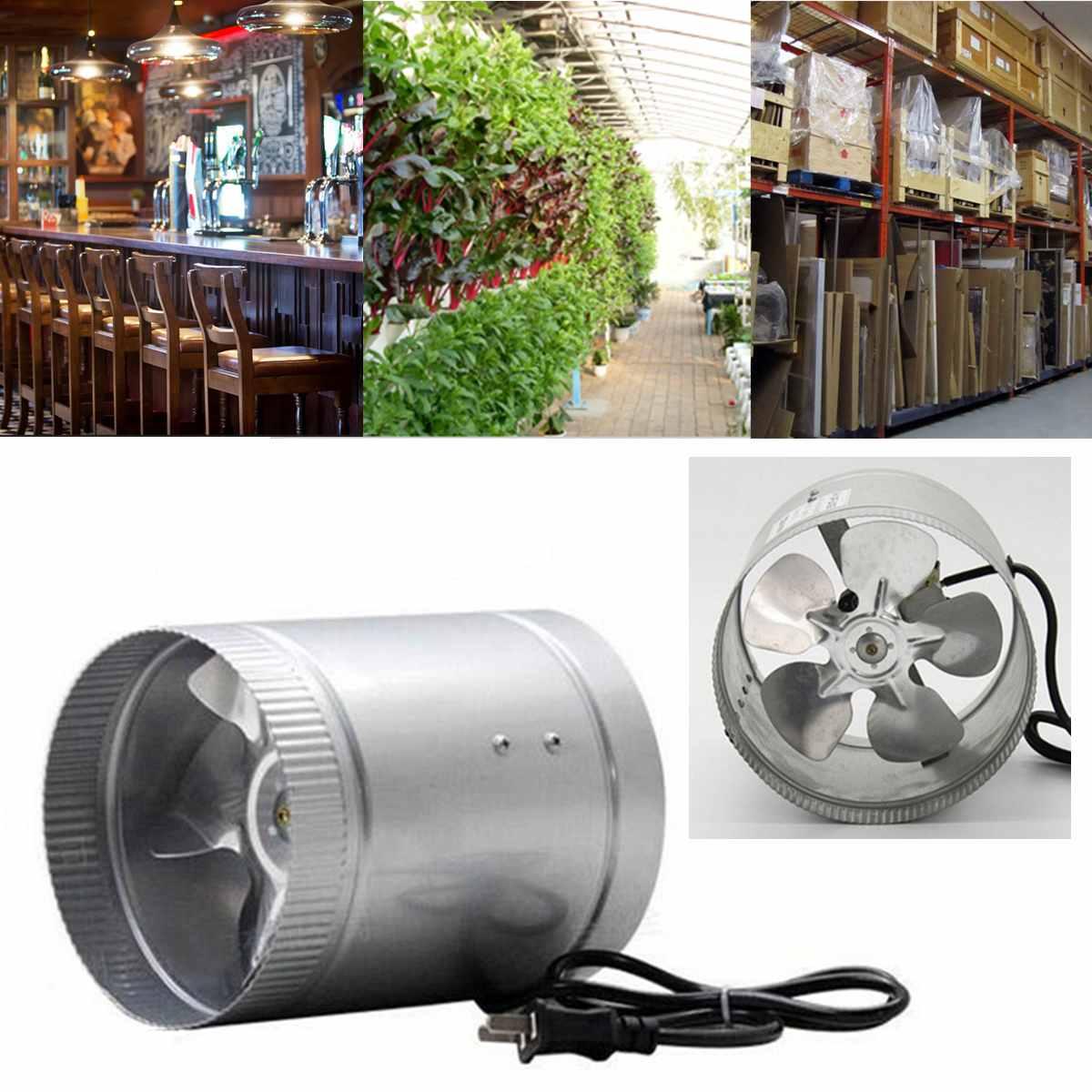 Fans For Kitchen: Exhaust Fan 4'' 100CFM Air Duct Fan Low Noise Inline