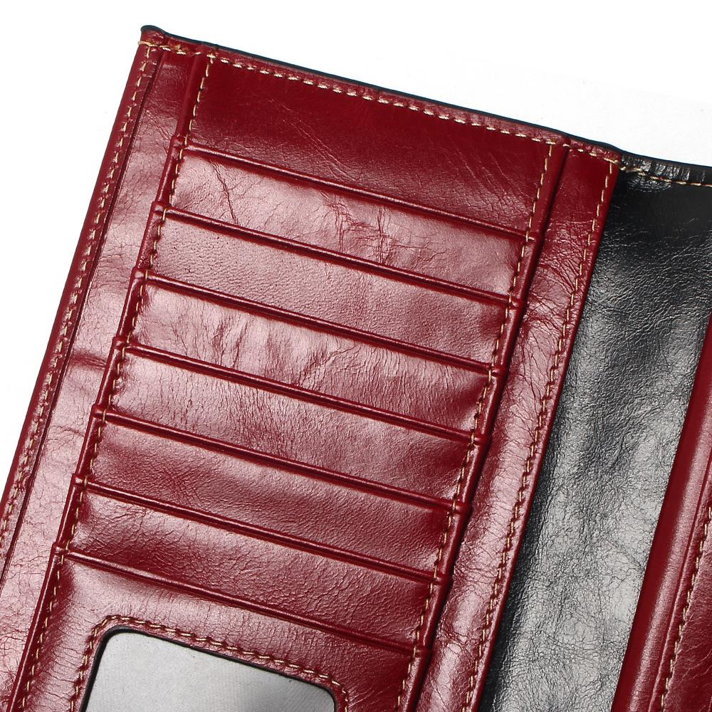 Vesna 2019 New Women Wallets Genuine Leather High Quality Long Design Clutch Cowhide Wallet High Quality Fashion Female Purse in Wallets from Luggage Bags