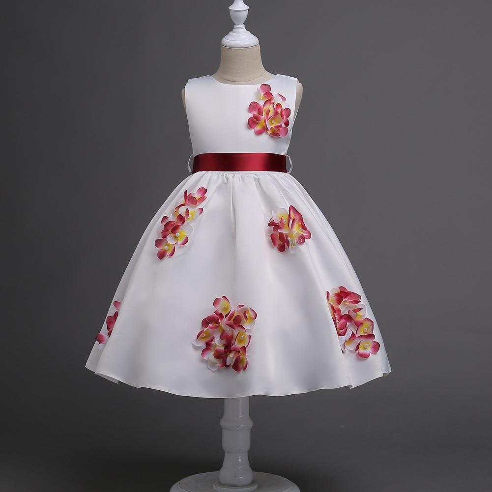 JaneyGao Flower Girl Dresses For Wedding Party Little Girl Birthday Dress Knee Length Teenage Girl First Communion Dress 2019-in Flower Girl Dresses from Weddings & Events    3