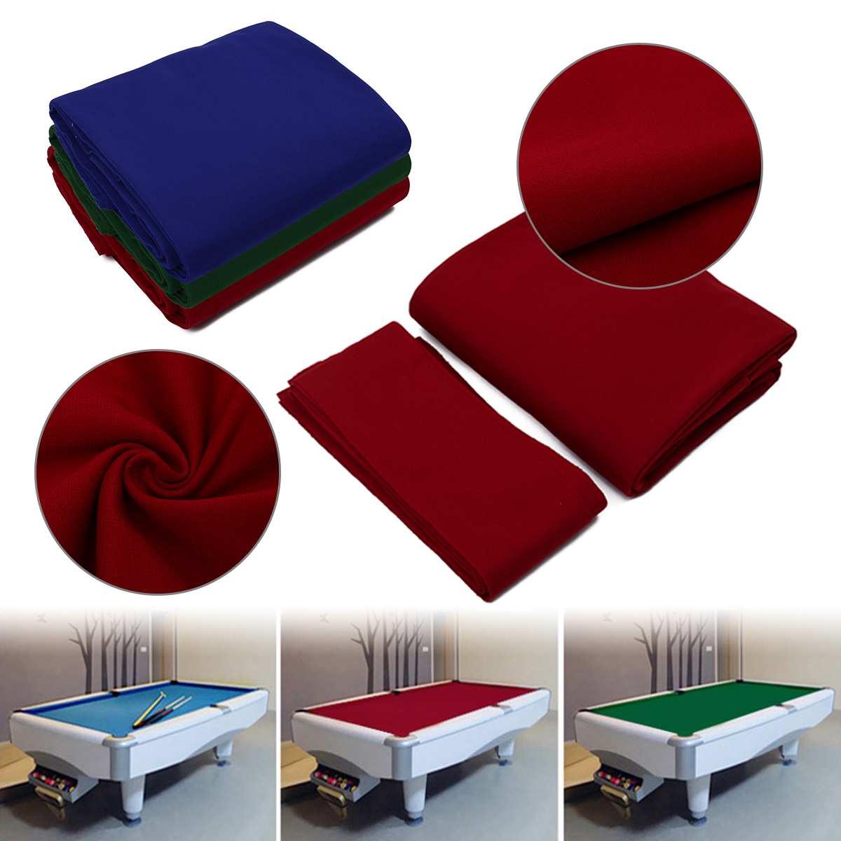 7/8/9ft Vert/Bleu/Rouge Piscine Huit Boule De Billard et Coussin nappe de table de Piscine rail pour américain billard snooker Accessoires
