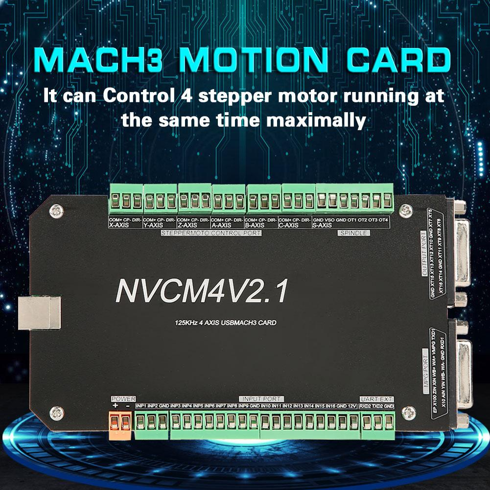 Image 5 - New NVCM 4 Axle CNC Controller MACH3 USB Interface Board Card for Stepper Motor New High Quality-in Motor Driver from Home Improvement