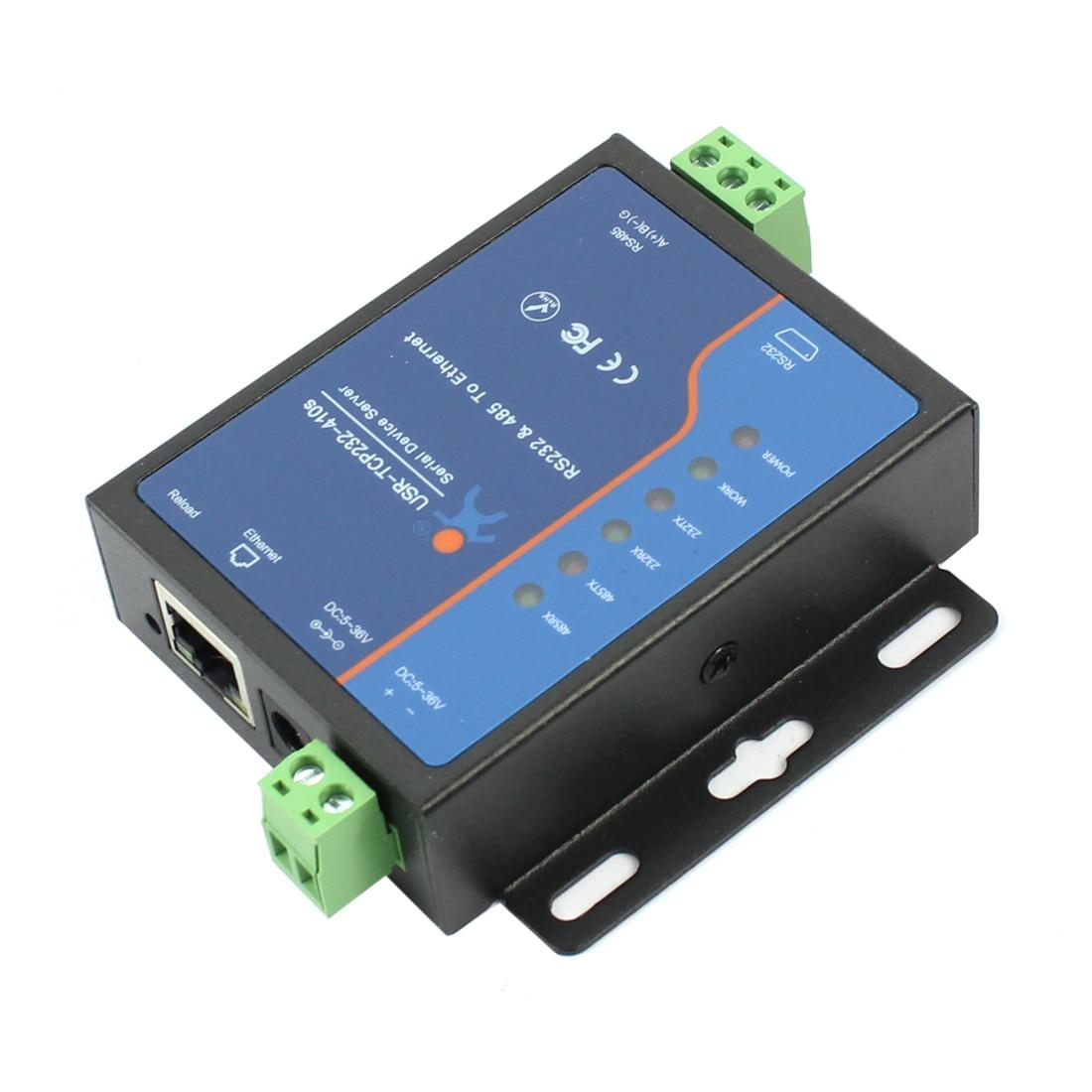 Q18039 USRIOT USR TCP232 410S terminali güç kaynağı RS232 RS485 tcp/ip dönüştürücü seri Ethernet seri aygıt sunucusu