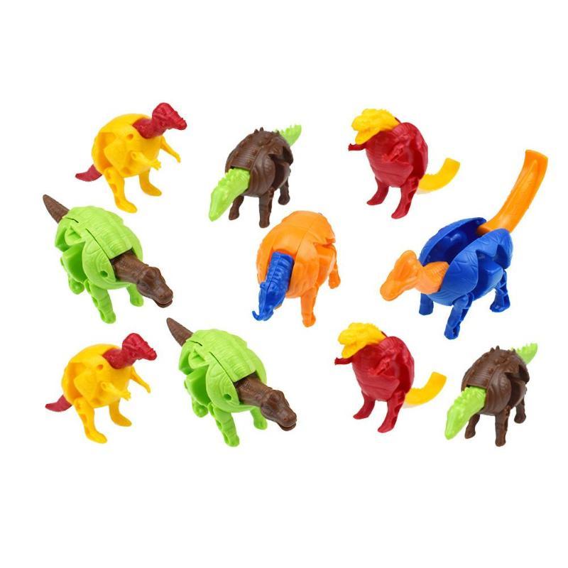 Dinosaur Eggs Toy Colorful Deformed Dinosaurs Egg Toys Children Educational Capsule Toys Cute Magic Hatching  Novelty Gag Toys