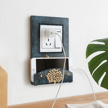 Resin Wall Decor Socket Switch Sticker Creative Mobile Phone Charge Holder  switch wall frame Light Cover