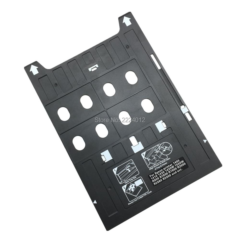 2019 Plastic Inkjet PVC ID Card Printing Tray For Epson 1400 1410 1430 1430W 1500W R800 R1800 R1900 R2000 R2880 R3000 P400 P600