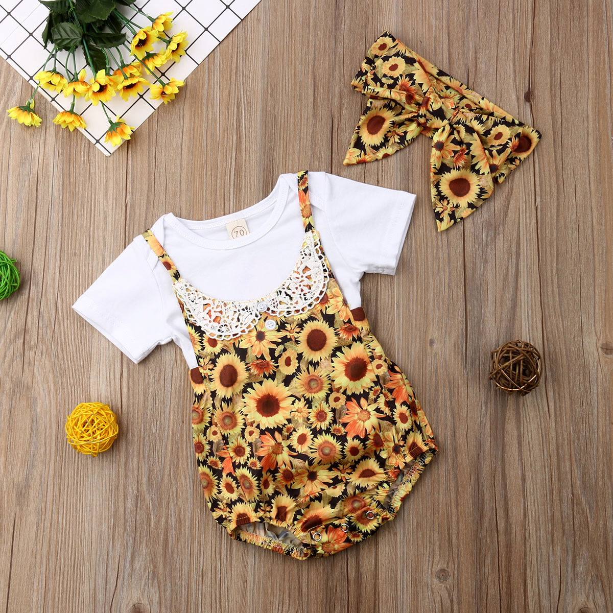 0-2Years,SO-buts Summer Infant Baby Girls Half Sleeve Floral Print Clothes Tops Jumpsuit Romper