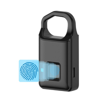 USB Rechargeable Smart Keyless Fingerprint Lock Fast Response Anti Theft Security Small Padlock for Luggage Cases Backpacks Bags