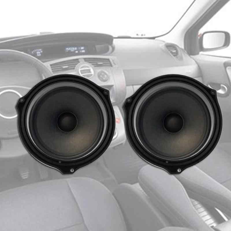 2 pcs מכירה לוהטת 6.5in שחור רכב דלת רמקול Spacer טבעת מתאם סוגריים עבור פורד פוקוס רכב סטיילינג אבזרים