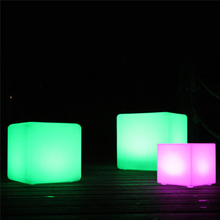 LED Light Cube Lawn Lamp Colorful Remote Control Night Light Outdoor Waterproof Villa Decoration Desk Lamp Lighting Luminaria free shipping waterproof led 25cm round ball light luminous colorful globe night light remote control light for indoor outdoor