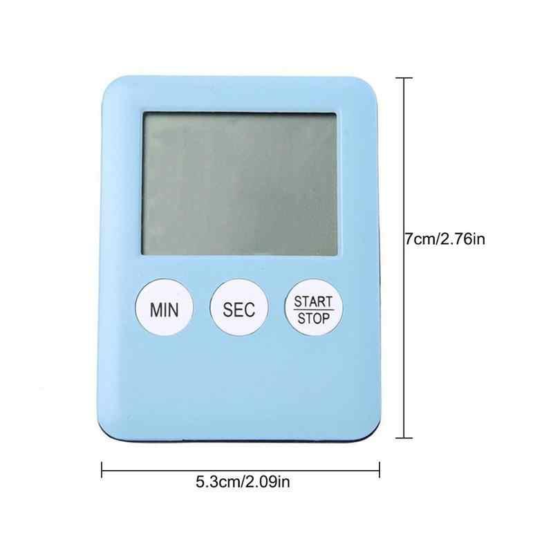 Teste de Velocidade do carro Auto Relógio Temporizador 6 Cores Da Moda Simples Super Fina Tela Digital LCD Temporizador de Contagem Regressiva Alarme com Ímã