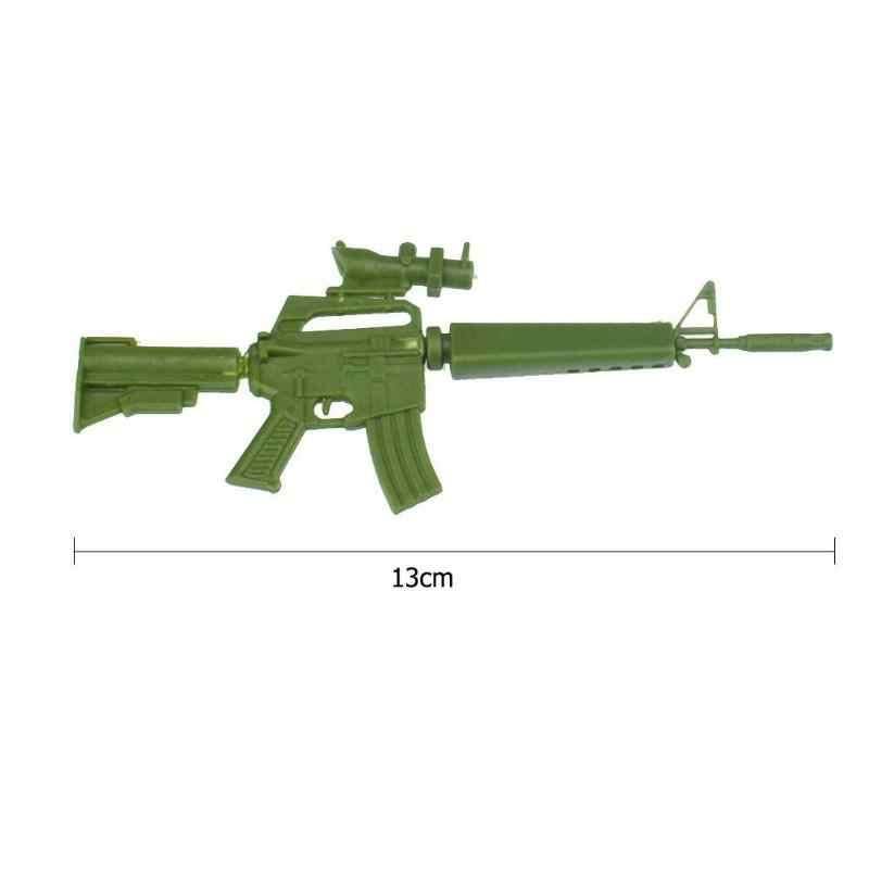 Fucile Mitragliatore Mitragliatrice Giocattoli Capsula 1PC Mini Army Verde FAI DA TE Assemblato Giocattolo 2019 Nuovo Anno del Regalo di Natale Per dei Capretti dei bambini