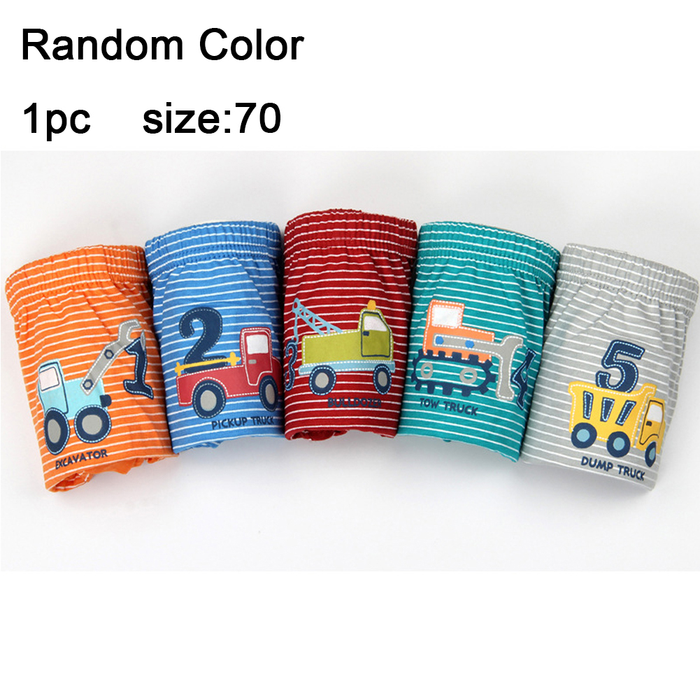 For Boys Children Cotton Material Truck Numbers Printed Striated Breathable Soft Cute Briefs Cartoon   Panties   Kid Underwear