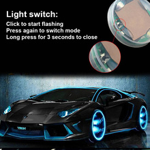 2pcs/set Car Waterproof Solar Energy Wheel Light Decorative Flashing Colorful LED Tire Gas Nozzle Cap Motion Sensors